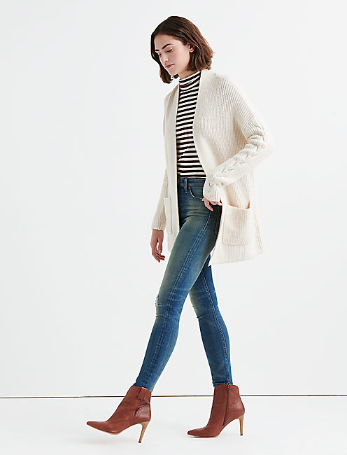 VENICE CARDIGAN, SNOW WHITE