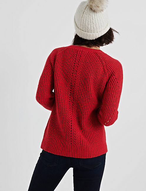 CREW NECK POINTELLE SWEATER,