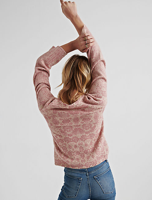 DAMASK PULLOVER, BLUSH MULTI