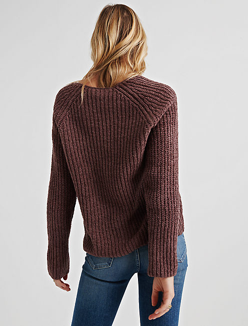 OVERSIZE CHENILLE SWEATER, ROSE TAUPE