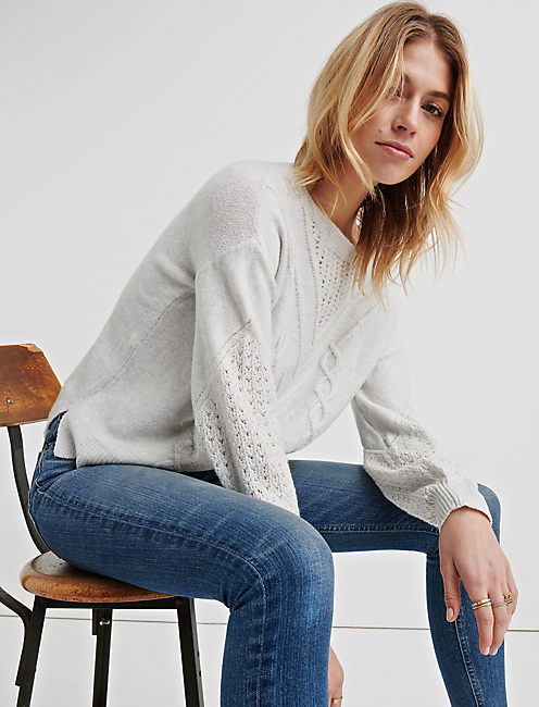 Lucky Cable Knit Sweater