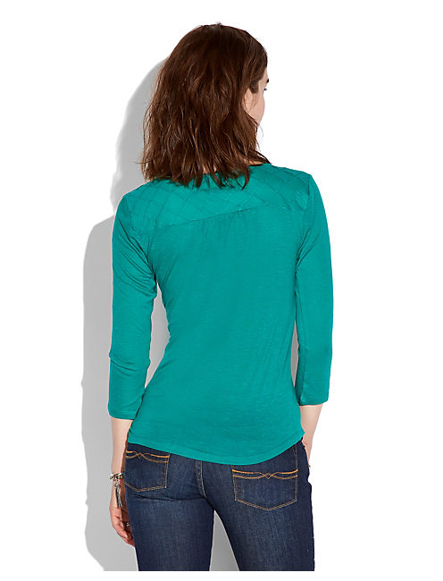 ELIE YOKE TOP, #3883 DYNASTY GREEN