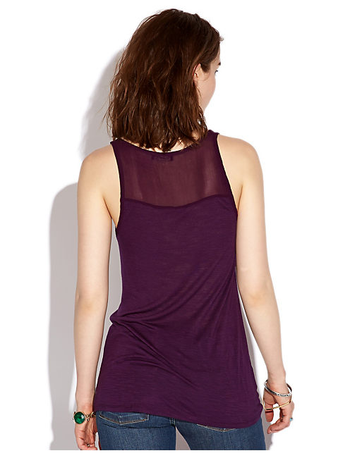 ANGELI DRAPEY TANK, #5307 BLACKBERRY CORDIAL