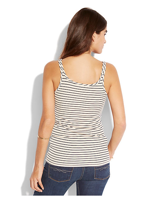 STRIPE EVELYN TANK, NIGORI/NAVY STRIPE