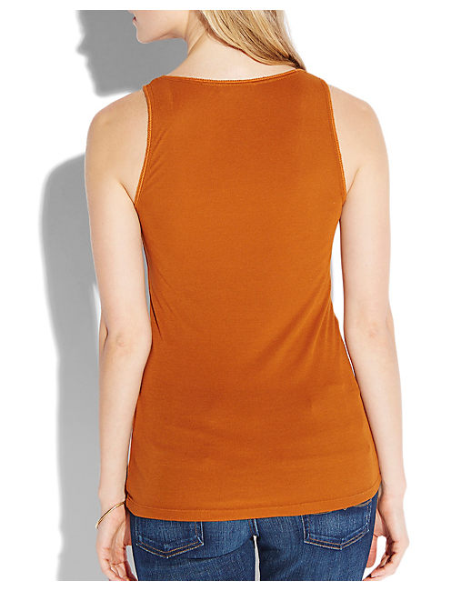 AVA V NECK TANK, #2473 GLAZED GINGER