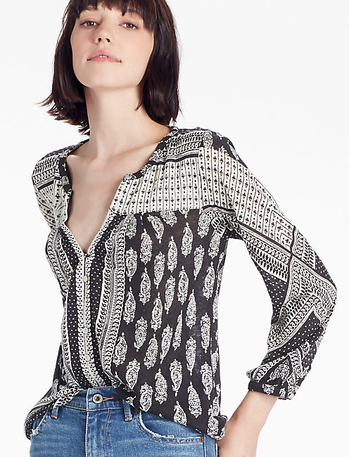 PLACED PAISLEY TOP,