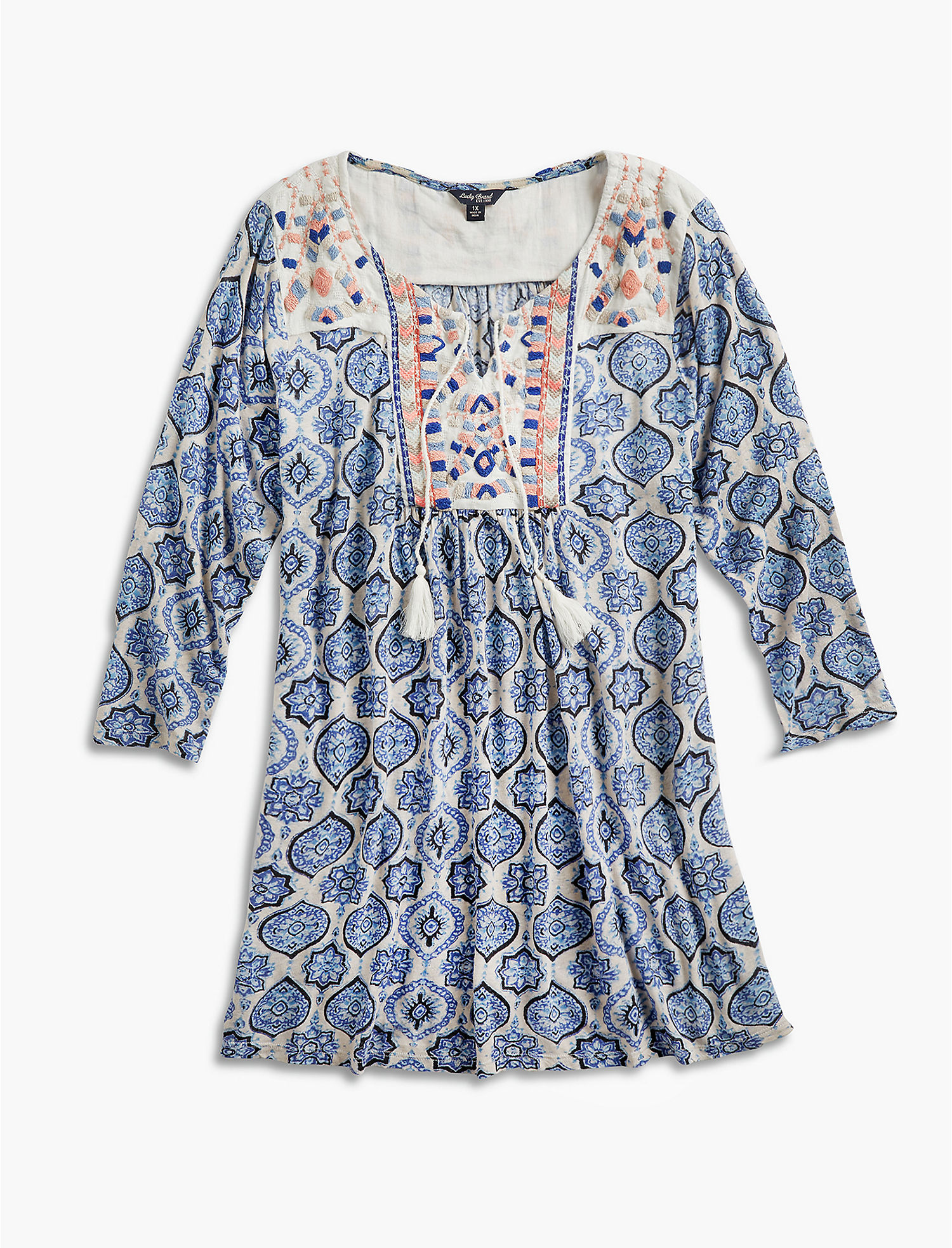 Looking For Online Block Print Top Lucky Brand Pictures Sale Factory Outlet 9PxKrtANl