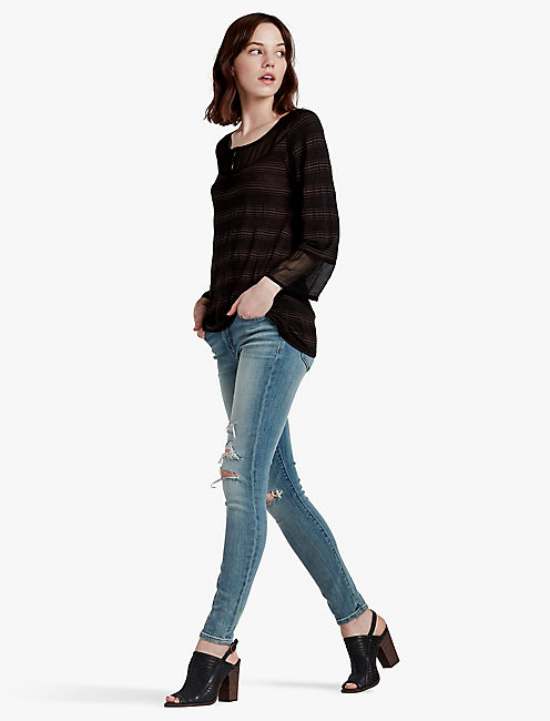 SEAMED MIX TOP,