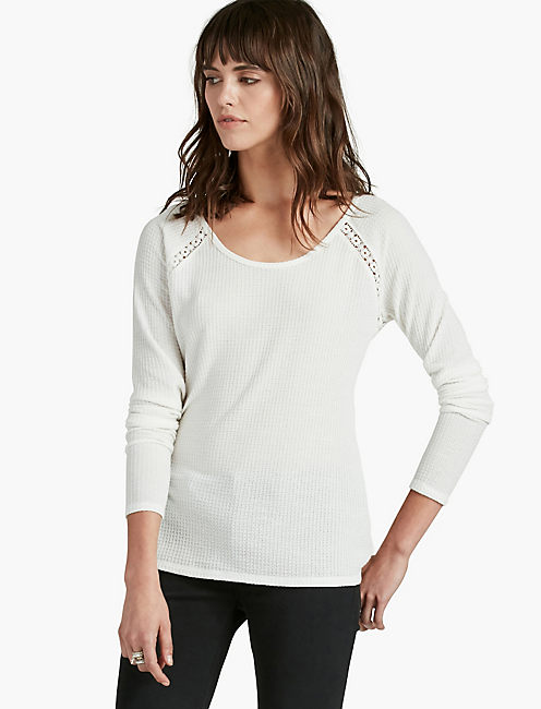 LACE MIXED THERMAL, MARSHMALLOW