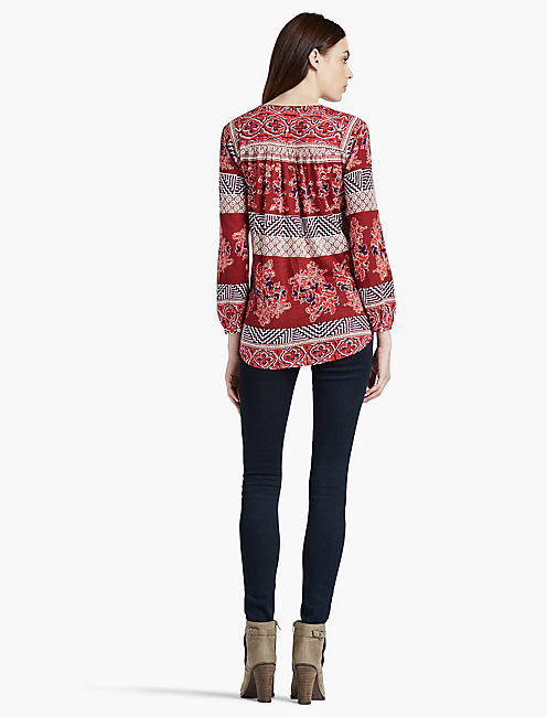 PRINTED KNIT TOP,