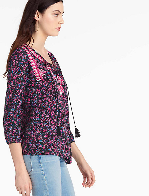 EMBROIDERED BOHO TOP,