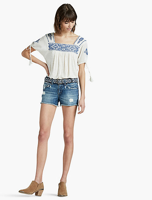 EMBROIDERED TOP, EGGSHELL
