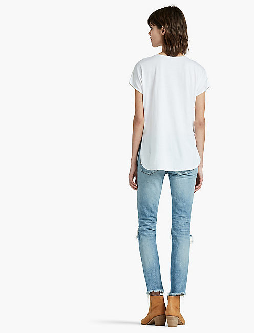 EMBROIDERED MIX TEE,