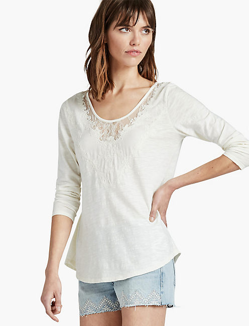 WASHED APPLIQUE TOP,
