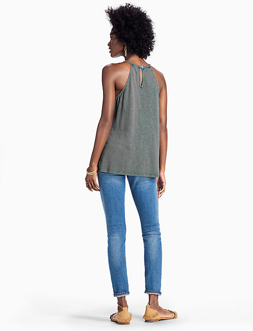 EMBROIDERED CUT OUT TOP,