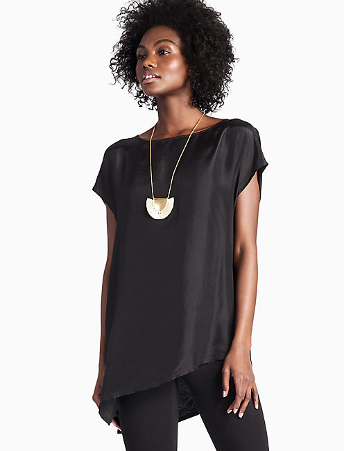 SOLID SILK MIX TOP,