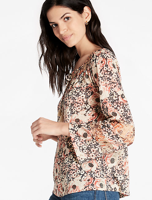 FLORAL WOVEN MIX PEASANT,