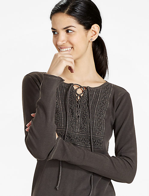 LACE UP BIB THERMAL, 001 LUCKY BLACK