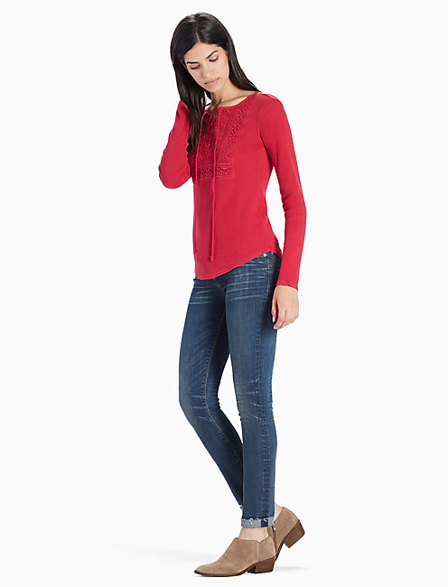 LACE UP BIB THERMAL, PERSIAN RED