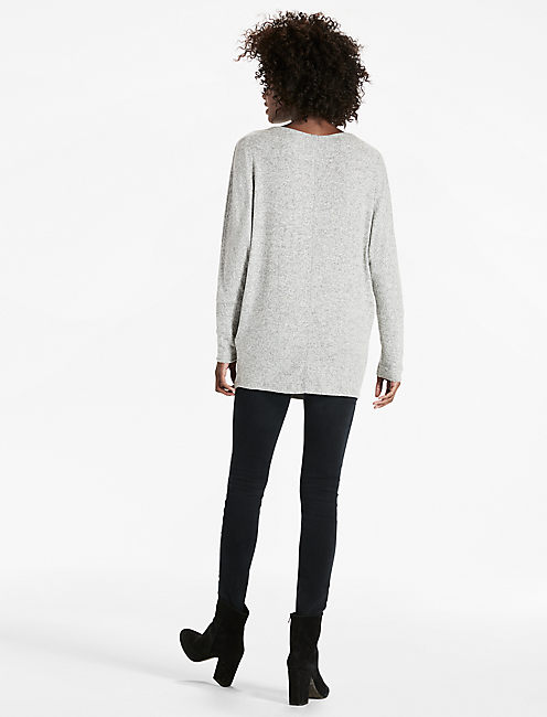 COZY DOLMAN SWEATSHIRT, HEATHER GREY