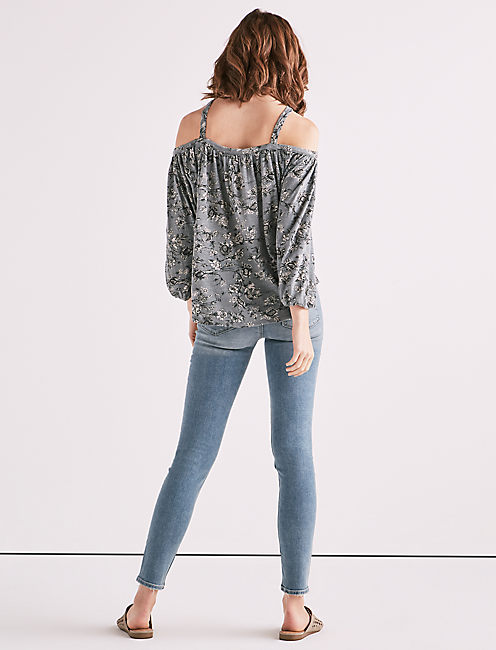DITSY OFF SHOULDER TOP,