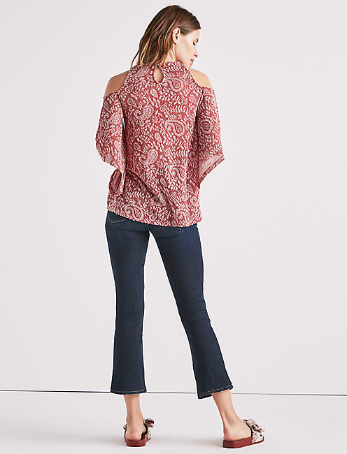 Lucky Cold Shoulder Open Front Top