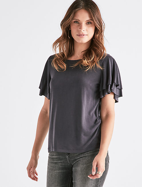 Ruffle Sand Wash Tee by Lucky Brand
