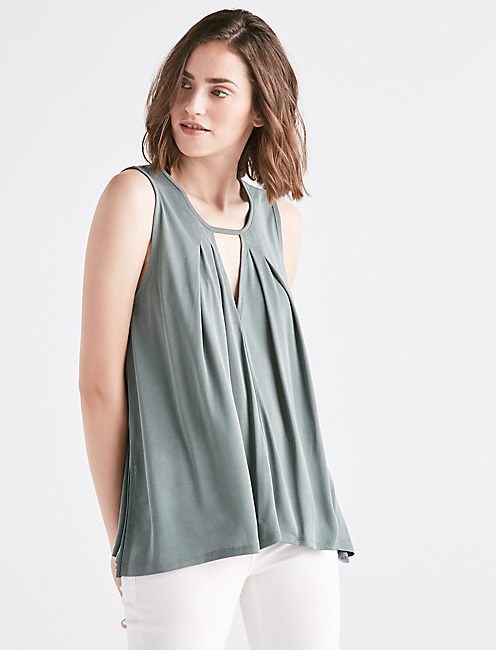 SAND WASH CUTOUT TUNIC, OLIVE