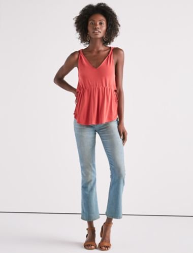 Lucky Side Cutout Sandwash Top