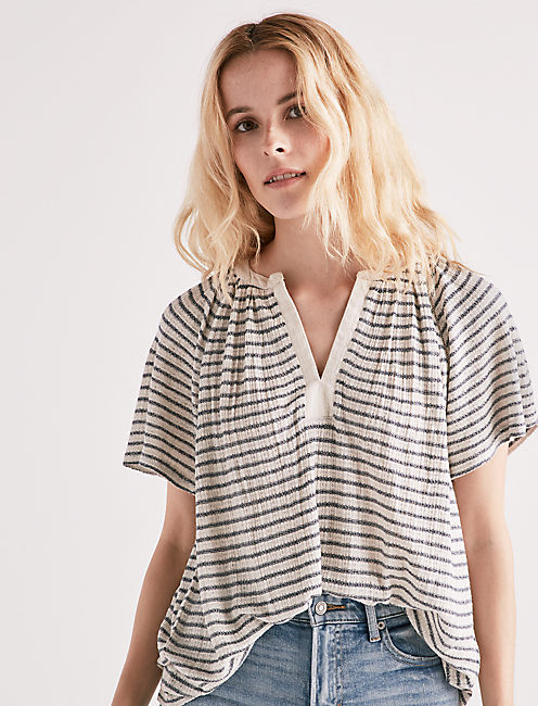 DROP NEEDLE STRIPE TOP,