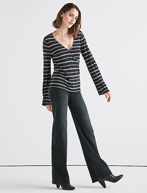 Lucky Stripe Wrap Top