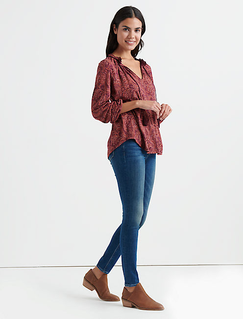 Lucky Paisley Peasant Top