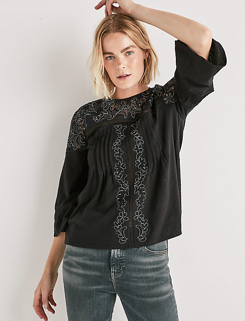 CUT OUT PEASANT TOP,