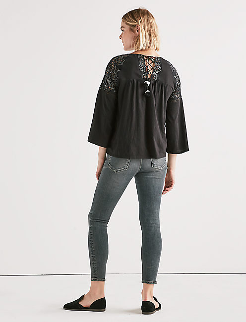 Lucky Cut Out Peasant Top