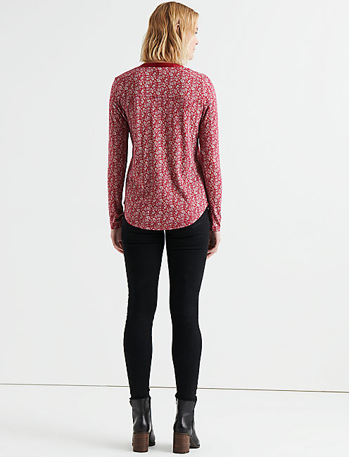 PRINTED SEAMED HENLEY,