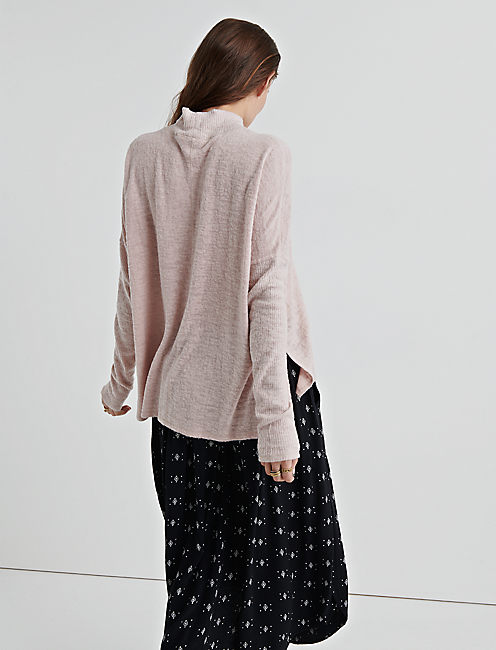 TURTLENECK CLOUD JERSEY PULLOVER, BLUSH