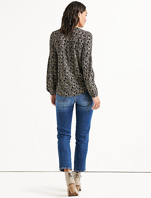 BUTTON FRONT PUFF SLEEVE,