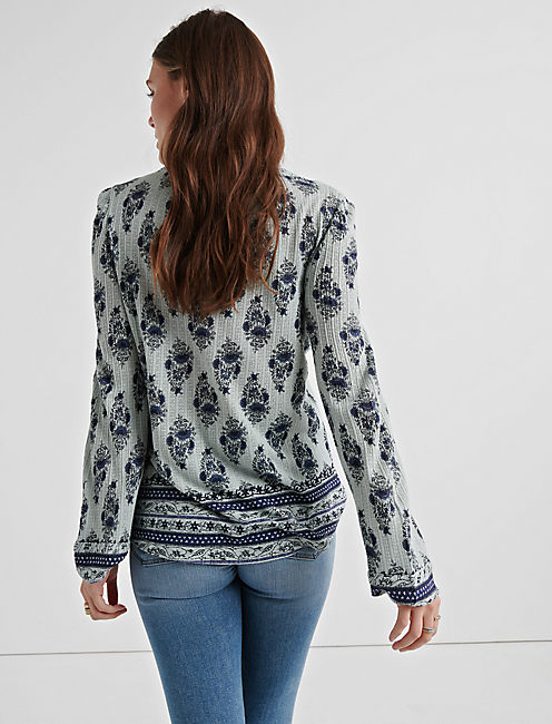 PRINTED DROP NEEDLE PEASANT,