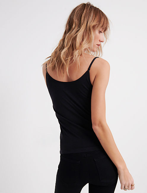 THE DUO REVERSIBLE CAMI, 001 LUCKY BLACK