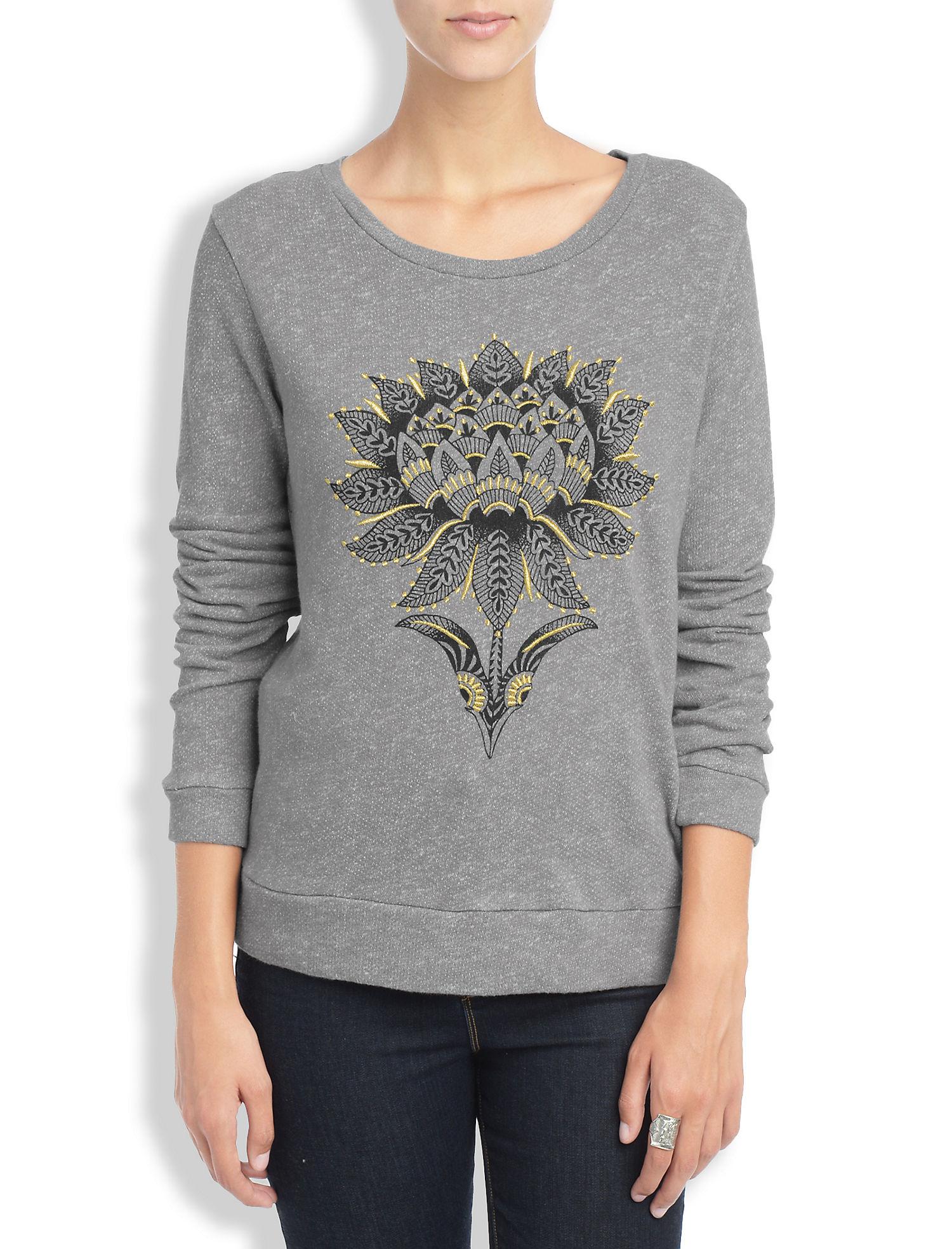 Lotus flower pullover lucky brand lotus flower pullover light heather grey izmirmasajfo