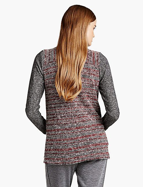SWEATER MIXED WRAP,