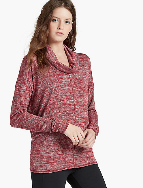 COWLNECK TUNIC, RIO RED
