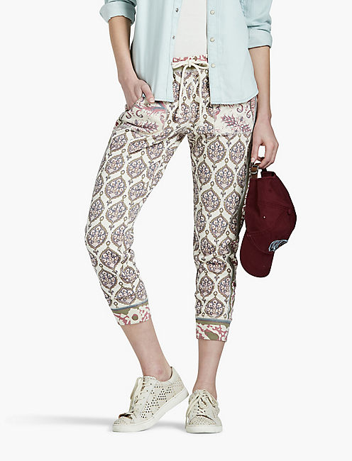 PRINT MIX JOGGER, CREAM MULTI