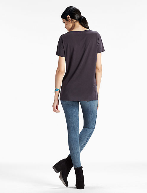 Sand Washed Tee, 001 LUCKY BLACK