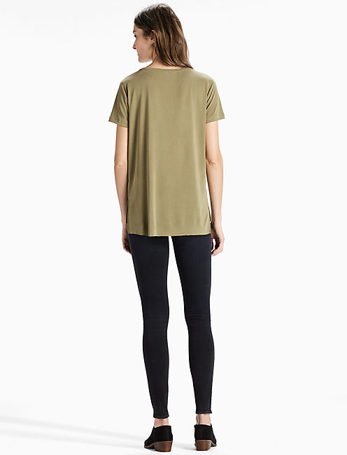Sand Washed Tee, DARK OLIVE
