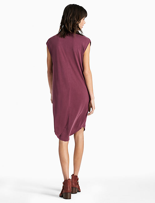 SAND WASHED DRESS, WINDSOR WINE
