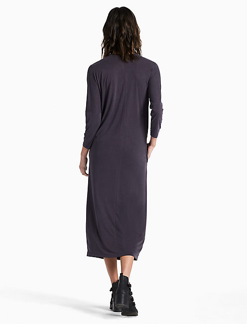SAND WASHED DRESS, 001 LUCKY BLACK