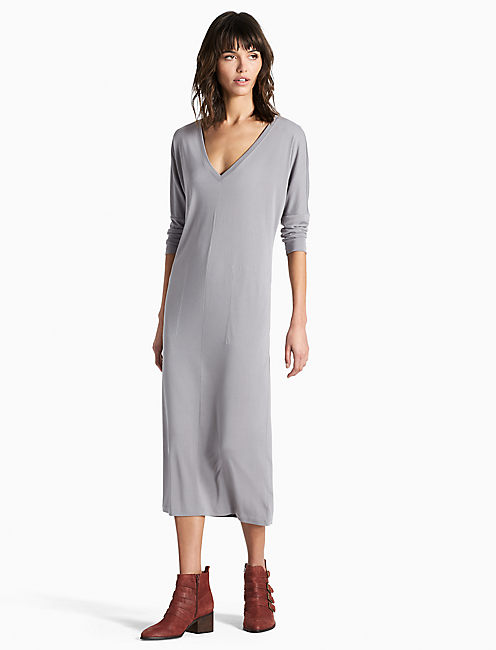 SAND WASHED DRESS, STEEL GRAY