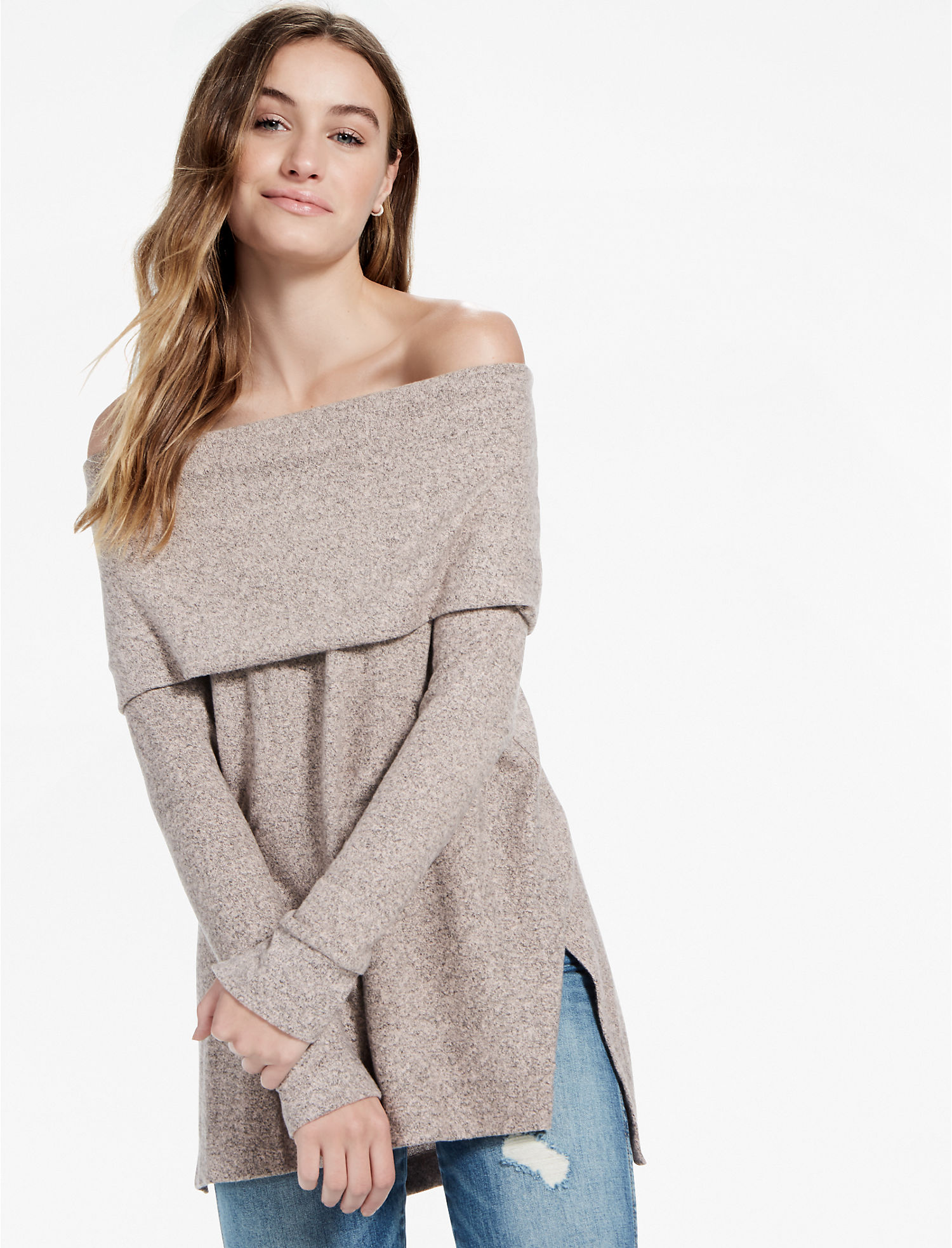 gwynnie sweater sandra colorblock drape top neck dress drapes bee cowl products darren with