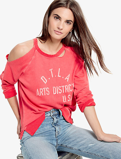 ARTS DISTRICT DISTRESSED PULLOVER,